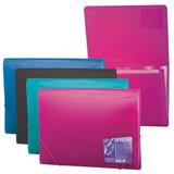 """Папка на резинках ERICH KRAUSE """"Vivid Colors"""", А4, 6 отделений, пластиковые индексные ярлычки, 4 цвета ассорти, 0,65 мм, 14554"""