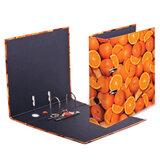 """Папка-регистратор HERLITZ """"Апельсины"""", ламинированный картон, 80 мм, 10626190"""