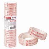 Клейкие ленты 12 мм х 10 м канцелярские BRAUBERG, комплект 12 шт., прозрачные, гарантированная длина, 223122