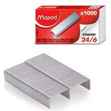 Скобы для степлера MAPED (Франция), №24/6, 1000 штук, 324405