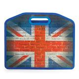 Сумка пластиковая BRAUBERG, A4 37х30 см, на молнии, цветная печать, универсальная, флаг, 223804