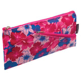 "Пенал-косметичка BRAUBERG, полиэстер, розовый, ""Цветочки"", 22х11 см, 223908"