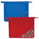 Папка для тетрадей BRAUBERG, А5, пластик, молния сверху, цветной уголок, ассорти, ромбы, 223955