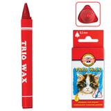 """Восковые мелки KOH-I-NOOR """"Trio Wax"""", 6 цветов, трехгранные, картонная упаковка с европодвесом, 8271006001KS"""