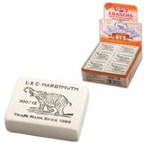 """Резинка стирательная KOH-I-NOOR """"Слон"""", прямоугольная, 48х37х16 мм, белая, картонный дисплей, 0300012002KDRU"""