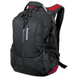 Рюкзак WENGER (Швейцария), универсальный, черный, красные вставки, 30 литров, 35х20х47 см, 15912215
