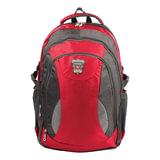 """Рюкзак для школы и офиса BRAUBERG """"StreetBall 1"""", 30 л, размер 48х34х18 см, ткань, серо-красный, 224451"""
