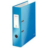 """Папка-регистратор LEITZ """"WOW"""", механизм 180°, с покрытием из полипропилена, 80 мм, голубая, 10050036"""