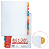 Разделитель документов для папок пластиковый ESSELTE, А4+, цифровой 1-12, с прозрачным оглавлением, 100214