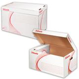"""Короб архивный ESSELTE """"Standard"""" для регистраторов/накопителей 56х26,5х38 см, откидная крышка, белый, 128900"""