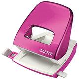 """Дырокол LEITZ """"NeXXt WOW"""", металлический, средний, на 30 листов, розовый металлик, блистер, 50082023"""