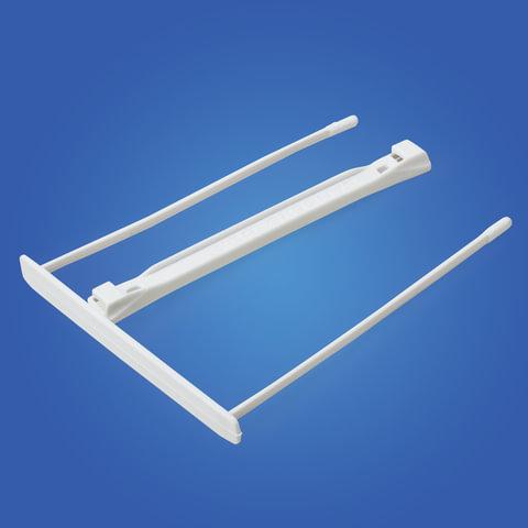 Механизмы для скоросшивания пластиковые FELLOWES (Bankers Box), комплект 100 шт., пластик, белые, FS-0089701
