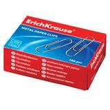 Скрепки ERICH KRAUSE, 33 мм, оцинкованные, 100 шт., в картонной коробке, 7856
