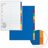 """Разделитель пластиковый ERICH KRAUSE """"Divider colored"""", А4, 10 листов, по цветам, оглавление, 2715"""