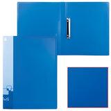 Папка на 2 кольцах БЮРОКРАТ, 27 мм, синяя, внутренний карман, до 150 листов, 0,7 мм, 0827/2Rblu