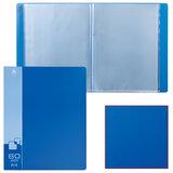 Папка 60 вкладышей БЮРОКРАТ, синяя, 0,7 мм, BPV60blue