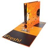 "Папка-регистратор HATBER HD, 2-х стороняя запечатка, 50 мм, ""IFRESH-апельсин"", ПР4 11263, V119792"