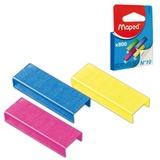 Скобы для степлера MAPED (Франция), №10, 800 штук, цветные, 324706