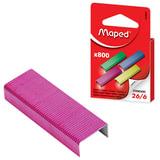 Скобы для степлера MAPED (Франция), №26/6, 800 штук, цветные, 324806
