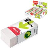 """Резинка стирательная MAPED (Франция) """"Technic Mini"""", 39х18х12,3 мм, белая, картонный держатель, дисплей, 011301"""