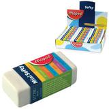 """Резинка стирательная MAPED (Франция) """"Softy Mini"""", 39х18х12,5 мм, белая, картонный держатель, дисплей, 511780"""
