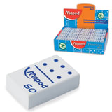 "Резинка стирательная MAPED (Франция) ""Domino 60"", 28х19х8,8 мм, белая, в виде домино, дисплей, 511260"