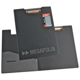 """Папка-планшет ERICH KRAUSE """"Megapolis"""", А4, с верхним прижимом и крышкой А4, пластик серый, 1,3 мм, 3877"""