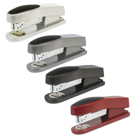 """Степлер KW-trio """"Trio Half-strip"""" №24/6, до 20 листов, ассорти (черный, красный, темно-серый, светло-серый), -5510"""