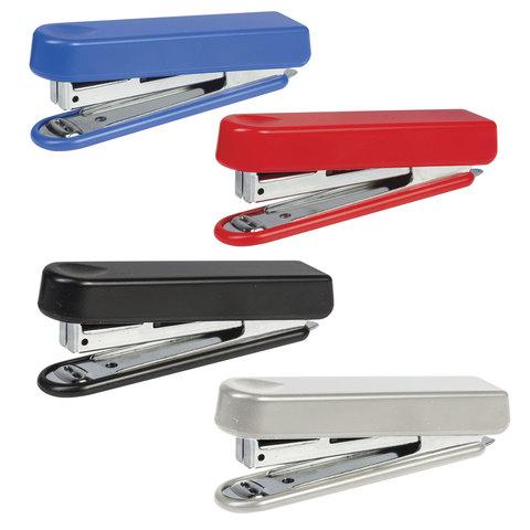Степлер KW-trio N10, до 12 листов, эргономичный, ассорти (черный, красный, синий, светло-серый), -5101
