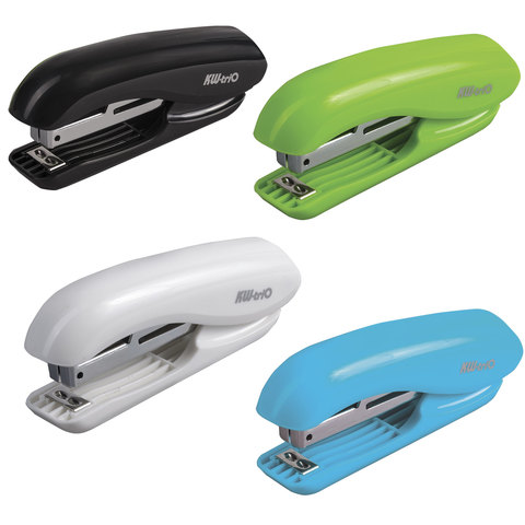 """Степлер KW-trio """"5165 Dolphin"""", №10, до 10 листов, ассорти (белый, зеленый, голубой, черный), -5165"""