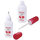 Ручка-корректор + корректирующая жидкость ОФИСМАГ, 12 мл, 2 в 1: металлический наконечник + кисточка, 225218