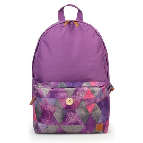 Рюкзак BRAUBERG, универсальный, сити-формат, фиолетовый, карман с пуговицей, 20 литров, 40х28х12 см, 225351