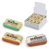 """Резинка стирательная KOH-I-NOOR """"Magic"""", прямоугольная, 45x24x11 мм, разноцветная, ассорти, дисплей, 6516030001KD"""