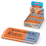 Резинка стирательная KOH-I-NOOR прямоугольная, скошенные углы, 57x19,5x8 мм, красная/синяя, картонный дисплей, 6521040021KDRU
