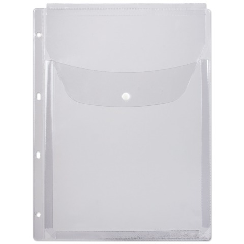 Папка-файл перфорированная, А4, объемная, до 200 листов, клапан с кнопкой, 0,18 мм, ДПС, 2308