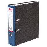 Папка-регистратор ОФИСМАГ, фактура стандарт, с мраморным покрытием, 75 мм, синий корешок, 225583