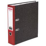 Папка-регистратор ОФИСМАГ, фактура стандарт, с мраморным покрытием, 75 мм, красный корешок, 225584