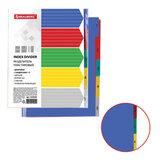 Разделитель пластиковый BRAUBERG, А4+, 5 листов, цифровой 1-5, оглавление, цветной, РОССИЯ, 225620