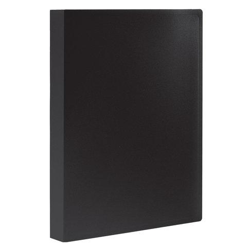 Папка 30 вкладышей STAFF, черная, 0,5 мм, 225697