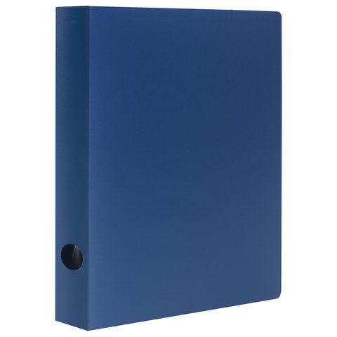 Папка на 2 кольцах STAFF, 40 мм, синяя, до 300 листов, 0,5 мм, 225720