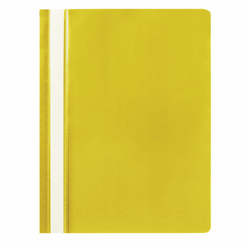 Скоросшиватель пластиковый STAFF, А4, 100/120 мкм, желтый, 225731