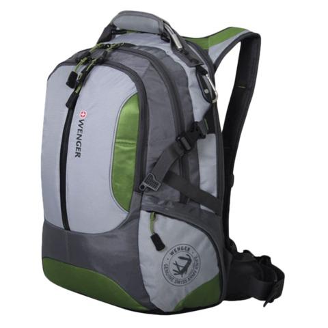 Рюкзак WENGER, универсальный, зелено-серый,