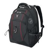 Рюкзак WENGER (Швейцария), универсальный, черный, красные вставки, 38 литров, 34х23х48 см, 6677202408