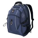 Рюкзак WENGER (Швейцария), универсальный, синий, серебристые вставки, 38 л, 34х23х48 см, 6677303408