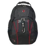 Рюкзак WENGER (Швейцария), универсальный, черный, красные вставки, 29 литров, 34х18х47 см, 6939201408
