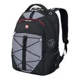 Рюкзак WENGER (Швейцария), универсальный, черно-серый, красные вставки, 30 л, 34х19х46 см, 6772204408
