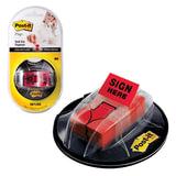 Диспенсер для закладок самоклеящихся POST-IT на присоске + закладки в комплекте 190 шт., 680-HVSHR