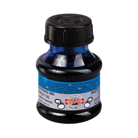 Краска штемпельная KOH-I-NOOR, синяя 50 мл, на водной основе, 14250300000
