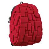 """Рюкзак MADPAX """"Blok Half"""", универсальный, молодежный, 16 л, красный, """"Блоки"""", 36х30х15 см, KZ24484216"""