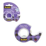 """Клейкая лента 19 мм х 7,5 м, полуматовая, для упаковки подарков, в диспенсере, 51 мкм, SCOTCH """"Satin"""", 15"""